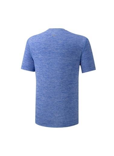 Mizuno Core Rb Graphic Tee Erkek T-Shirt Mavi Mavi